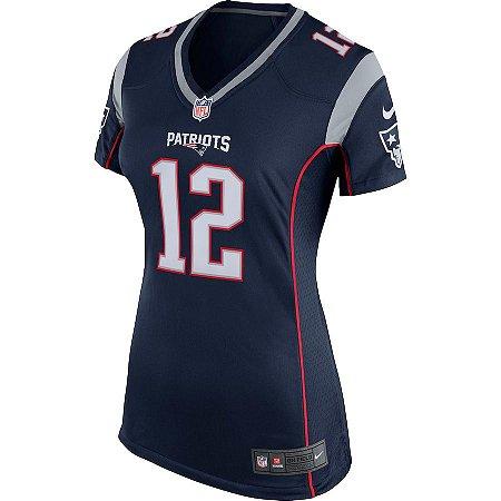 Camisa NFL Nike New England Patriots Feminina - Tom Brady