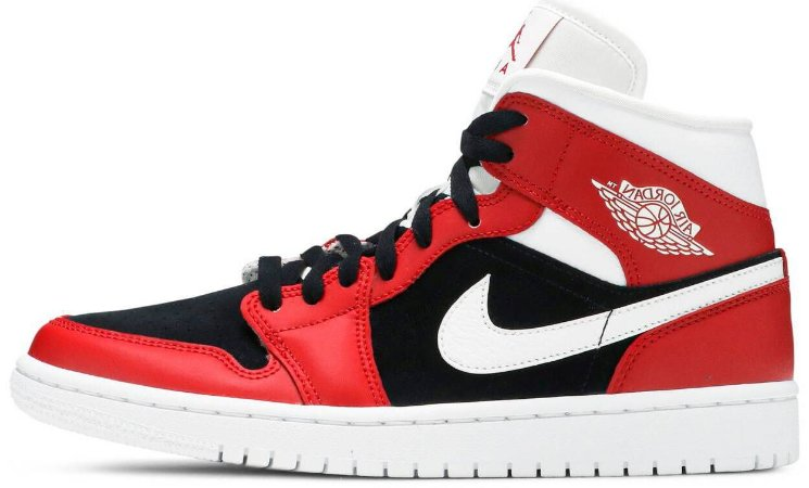 "Air Jordan 1 Mid Wmns ""Gym Red Black"" Feminino"