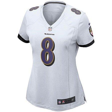 Camisa NFL Nike Baltimore Ravens Feminina - Branco