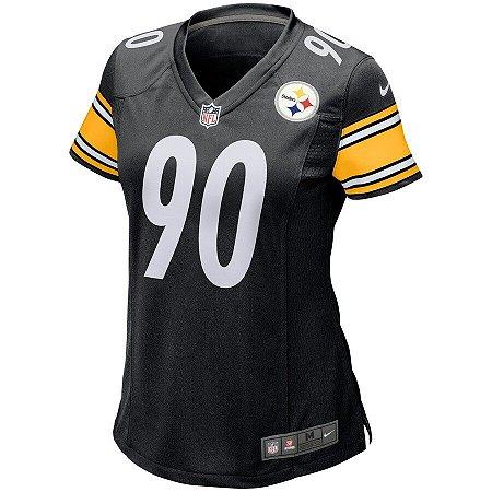 Camisa NFL Nike Pittsburgh Steelers Feminina - Preto