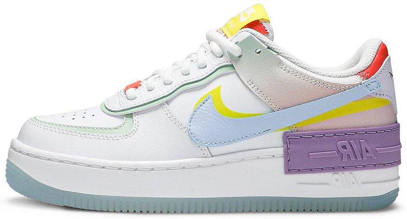 "Nike Air Force 1 Shadow ""White Hydrogen Blue"" Feminino"