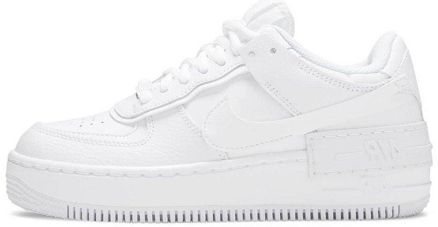 "Nike Air Force 1 Shadow ""Triple White"" Feminino"