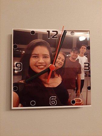 Relógio de parede personalizado em azulejo 15x15