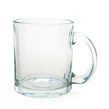 Caneca de Vidro Cristal Personalizada - 325ml