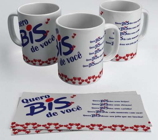 Caneca de Porcelana 325 ml - Modelo Chocolates