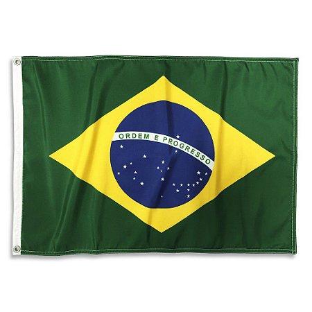 Bandeira Brasil Oficial Dupla Face ABNT NBR 45x64cm