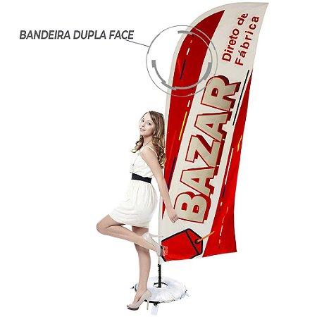Kit Windbanner Dupla Face para Bazar