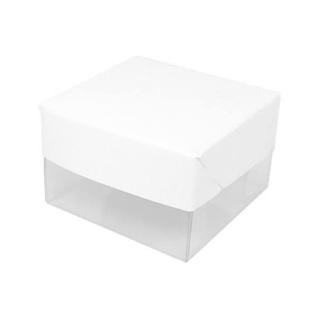 PMB-46 Lisa Branca (PMBTR-46) (6x6x4 cm) 10unid Caixa para Pão de Mel