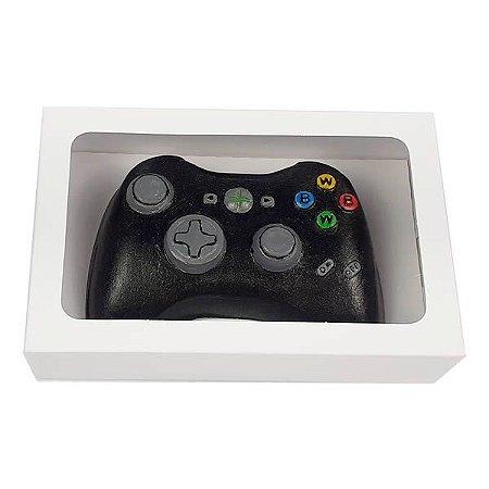 Caixa Branca para Controle Joystick XBOX Grande de Chocolate (20x13x5 cm) 10unid