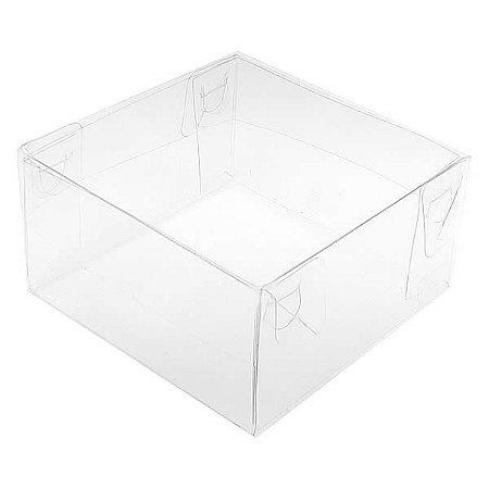 PMB-46 Caixa para Embalagem (6x6x4 cm) Embalagem para Pão de Mel Caixa Transparente de Plástico 10unid