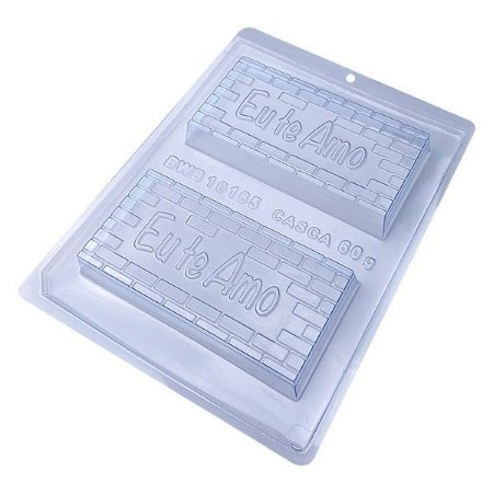 Forma com Silicone Tablete Eu Te Amo 200g Ref. 10165 BWB 1unid