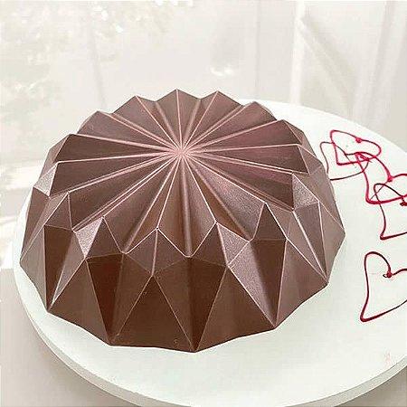 Forma para Chocolate Semiprofissional com Silicone Bolo Vulcão Ref. 3656 BWB 1unid