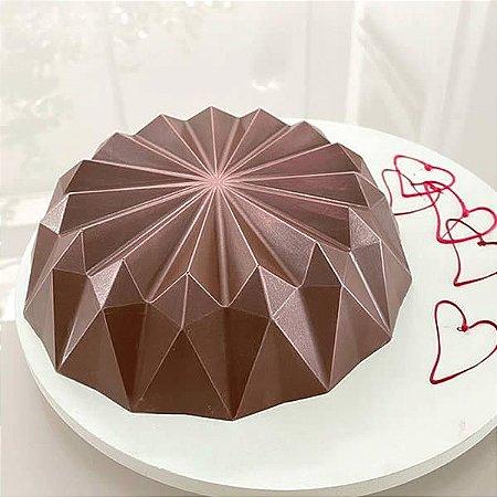 Forma para Chocolate Semiprofissional com Silicone Bolo Origami Ref. 3655 BWB 1unid