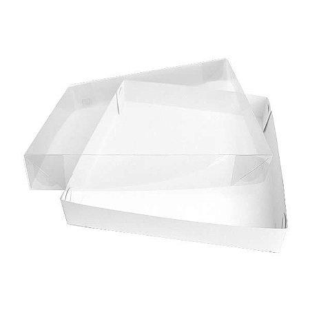 TRP-31 (26x23x4 cm) Caixa Plástico Acetato e Papel 10unid