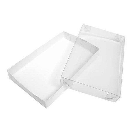 TRP-120 (18x14x2 cm) Caixinha de Plástico Acetato e Papel 10unid