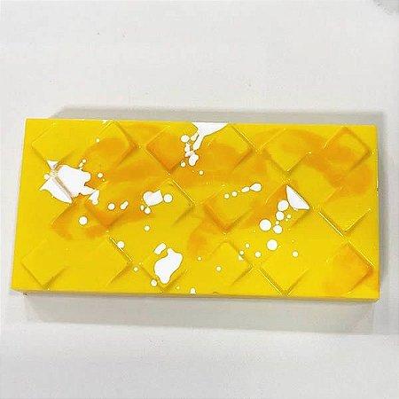 Forma para Chocolate com Silicone Tablete Quadrados Inclinados 250g Ref. 9978 BWB 1unid