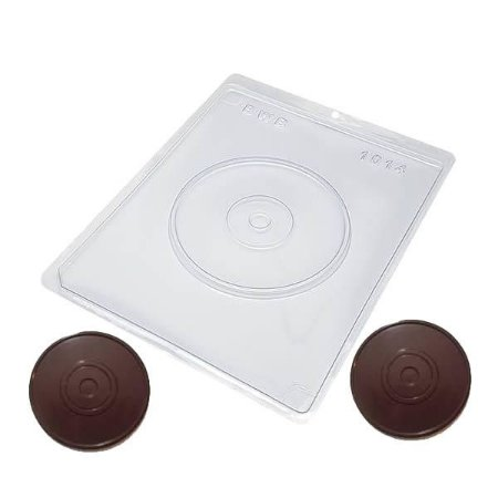 Forma para Chocolate CD Liso 75g Forma Simples Ref. 1014 BWB 5unids