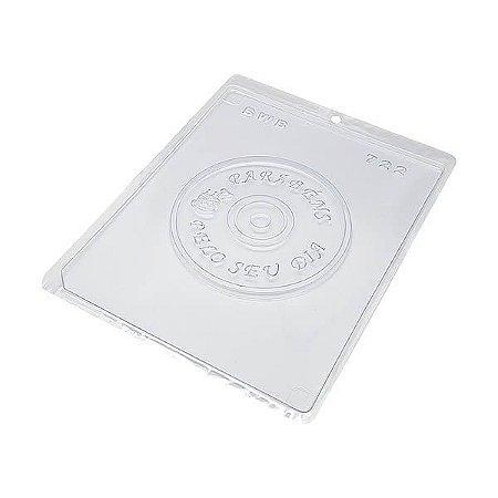 Forma para Chocolate CD Parabéns 75g Forma Simples Ref. 722 BWB 5unids