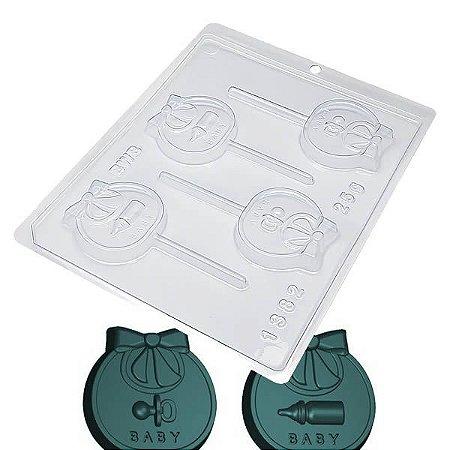 Forma para Chocolate Pirulito Baby 25g Forma Simples Ref. 1382 BWB 5unids
