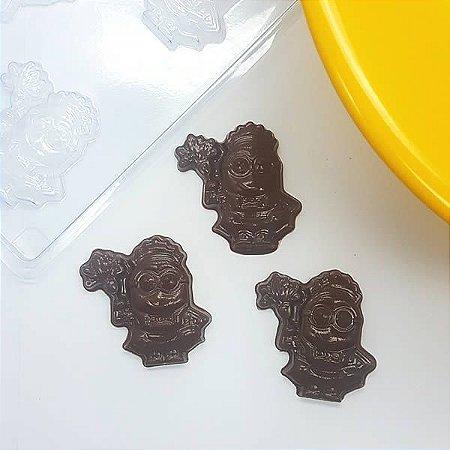 Forma para Chocolate Bombom Minion Empregada 11g Ref. 11032 BWB Licenciada Universal 10unid