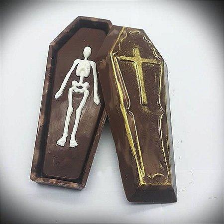 Forma para Chocolate com Silicone Caixão Halloween Ref. 9722 BWB 1unid