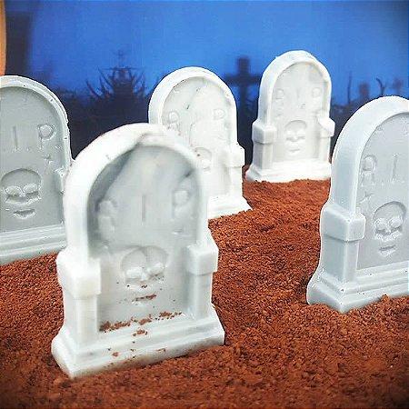 Forma para Chocolate Lápide Halloween 10g Forma Simples Ref. 9742 BWB 5unids