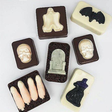 Forma para Chocolate Dia das Bruxas Halloween Forma Simples Ref. 9643 BWB 5unids