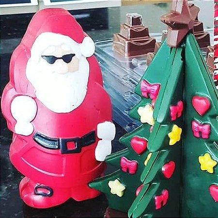 Forma para Chocolate com Silicone Papai Noel Frontal 115g Ref. 844 BWB 1unid