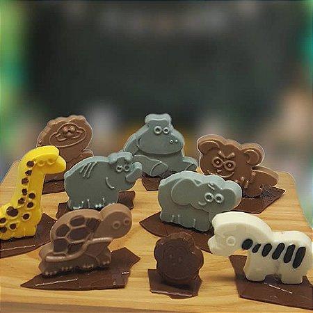 Forma para Chocolate Animais da África Forma Simples Ref. 9571 BWB 5unids