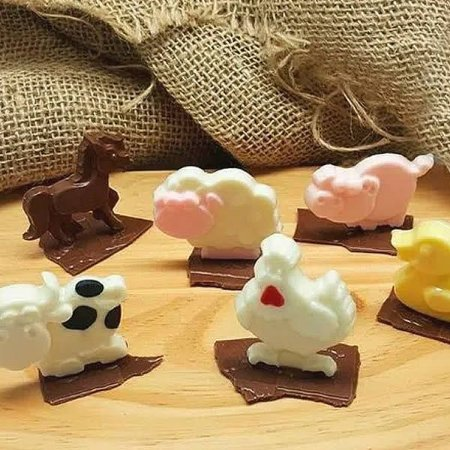 Forma para Chocolate Semiprofissional 9291 Animais da Fazenda Ref. 3590 BWB 5unid