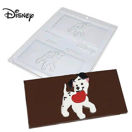 Forma para Chocolate Barra Dalmata Coração 65g Ref. 12014 BWB Licenciada Disney 10unid