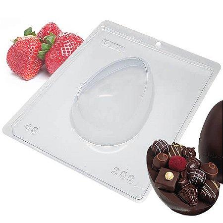 Forma para Chocolate com Silicone Ovo de Páscoa 250g Ovo de Colher Ref. 49 BWB 1unid