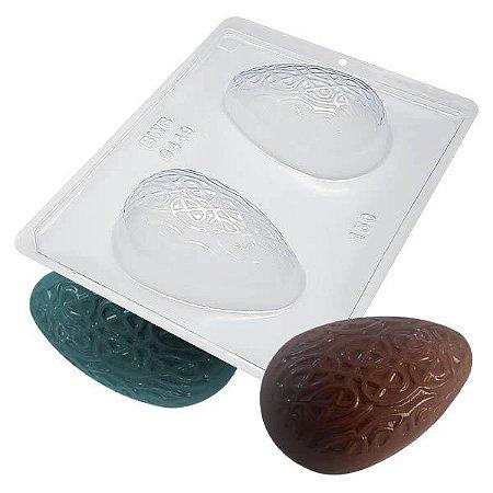 Forma para Chocolate com Silicone Ovo Texturizado Tecelão 150g Ref. 9449 BWB 1unid