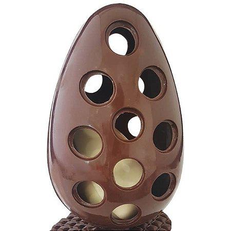 Forma para Chocolate com Silicone Ovo Vazado Bolinha 500g Ref. 9553 BWB 1unid