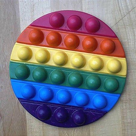 Forma para Chocolate com Silicone POP IT Redondo POPIT Fidget Toys Placa Ref. 10271 BWB 1unid
