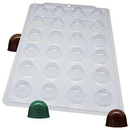 Forma para Chocolate Semiprofissional Bombom Cereja Lisa SP 04 18g Ref. 3515 BWB 5unid