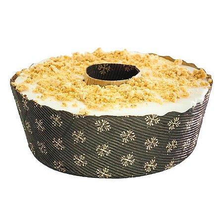 Forma Torta Suíça 500grs Fiori Decorada Papel Ondulado Ecopack Ref.TS15060FO 10unids Sulformas