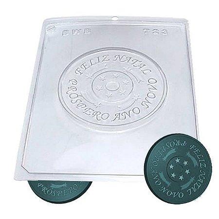 Forma para Chocolate CD Final de Ano 75g Forma Simples Ref. 723 BWB 5unids