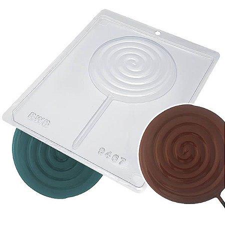 Forma para Chocolate Pirulito Caracol Grande Pirulitão 90g Forma Simples Ref. 9467 BWB 5unids