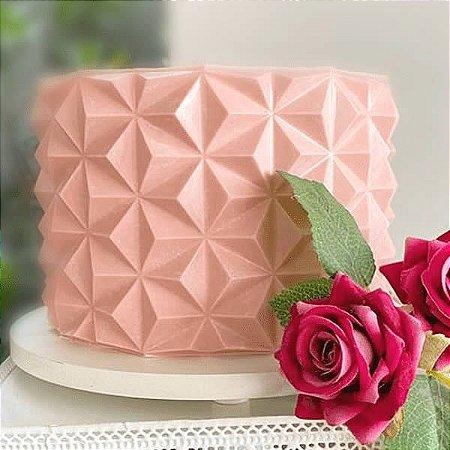 Placa Origami Cake Piramidal Ref. 10147 BWB 1unid