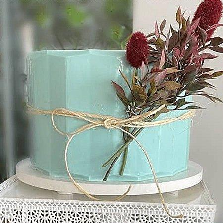 Placa Origami Cake Relevo Ref. 10143 BWB 1unid