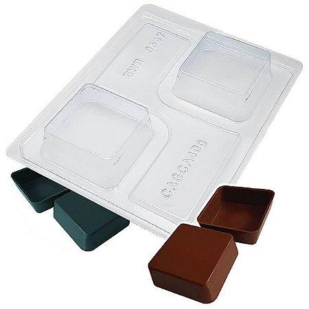 Forma para Chocolate com Silicone Chocolate de Colher Quadrado 56g Ref. 9547 BWB 1unid
