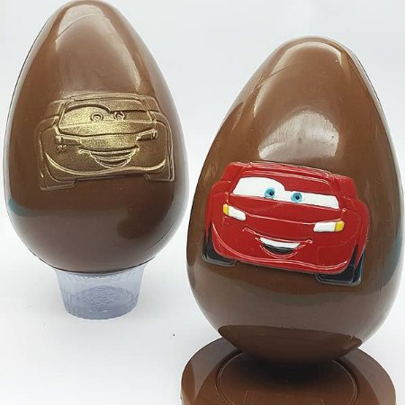 Forma para Chocolate com Silicone Ovo Carros McQueen 350g Ref. 12006 BWB Licenciada Disney 1unid