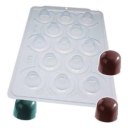 Forma para Chocolate Semiprofissional com Silicone Bombom Especial SP 40 8g Ref. 3500 BWB 1unid