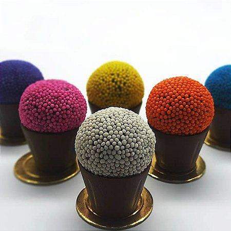 Forma para Chocolate Semiprofissional com Silicone Copinho de Licor Especial SP 1273 7g Ref. 3507 BWB 1unid