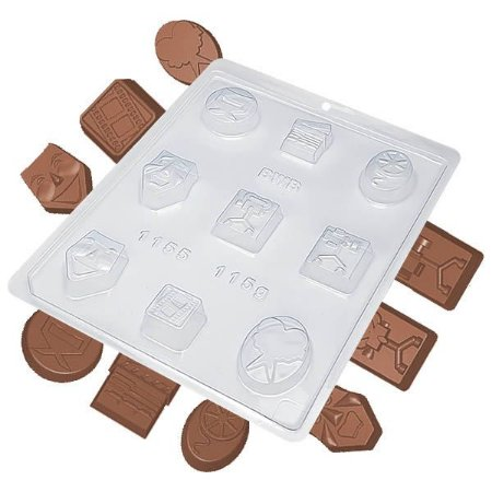 Forma para Chocolate Artista Vários 115g Forma Simples Ref. 1155 BWB 5unids