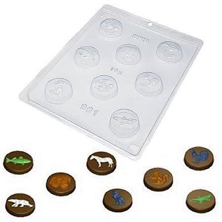 Forma para Chocolate Bolachinhas Bichos 13g Forma Simples Ref. 961 BWB 5unids