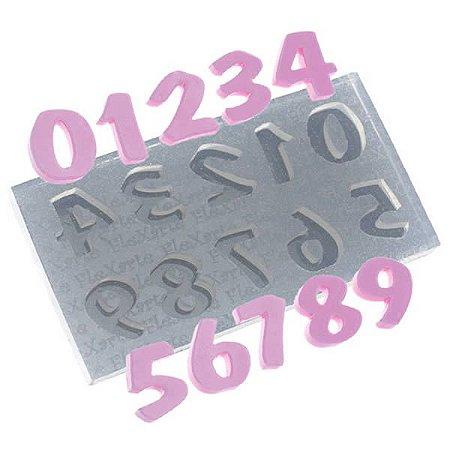Molde de Silicone Números Flash Médio cod. 511 flexarte (1unid) Molde Forneavel, Molde para Biscuit e Sabonete