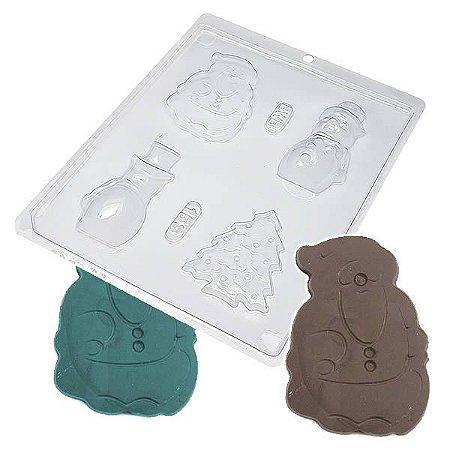 Forma para Chocolate Boneco De Neve 113g Forma Simples Ref. 153 BWB 5unids