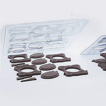 Forma para Chocolate Semiprofissional 9319 Porta Retrato Médio 43g Ref. 3541 BWB 5unid